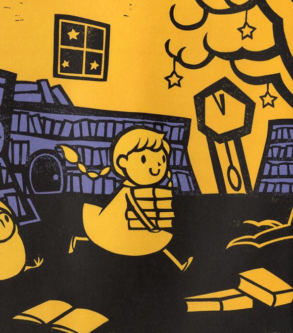album ilustrado, cuento, libro infantil, libro juvenil, cuento, ilustraciones, picarona, ediciones obelismo, La biblioteca noctura, Kazuno Kohara, libros 2016, libro, blog de lectura, solo yo, blog solo yo,